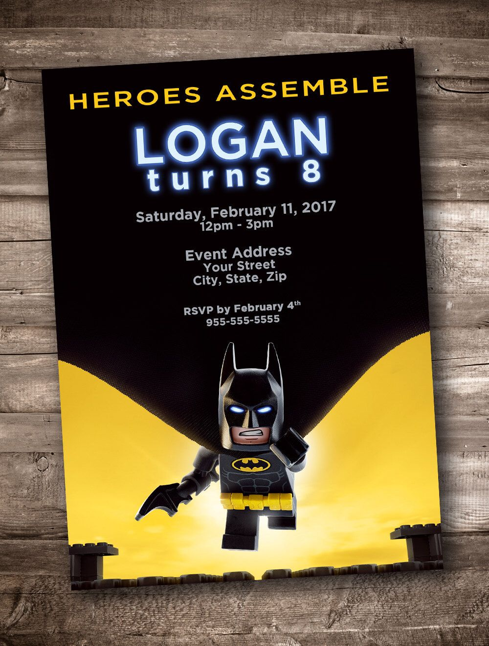 Lego Batman Party Invitation *Personalized Digital Printable* by ...