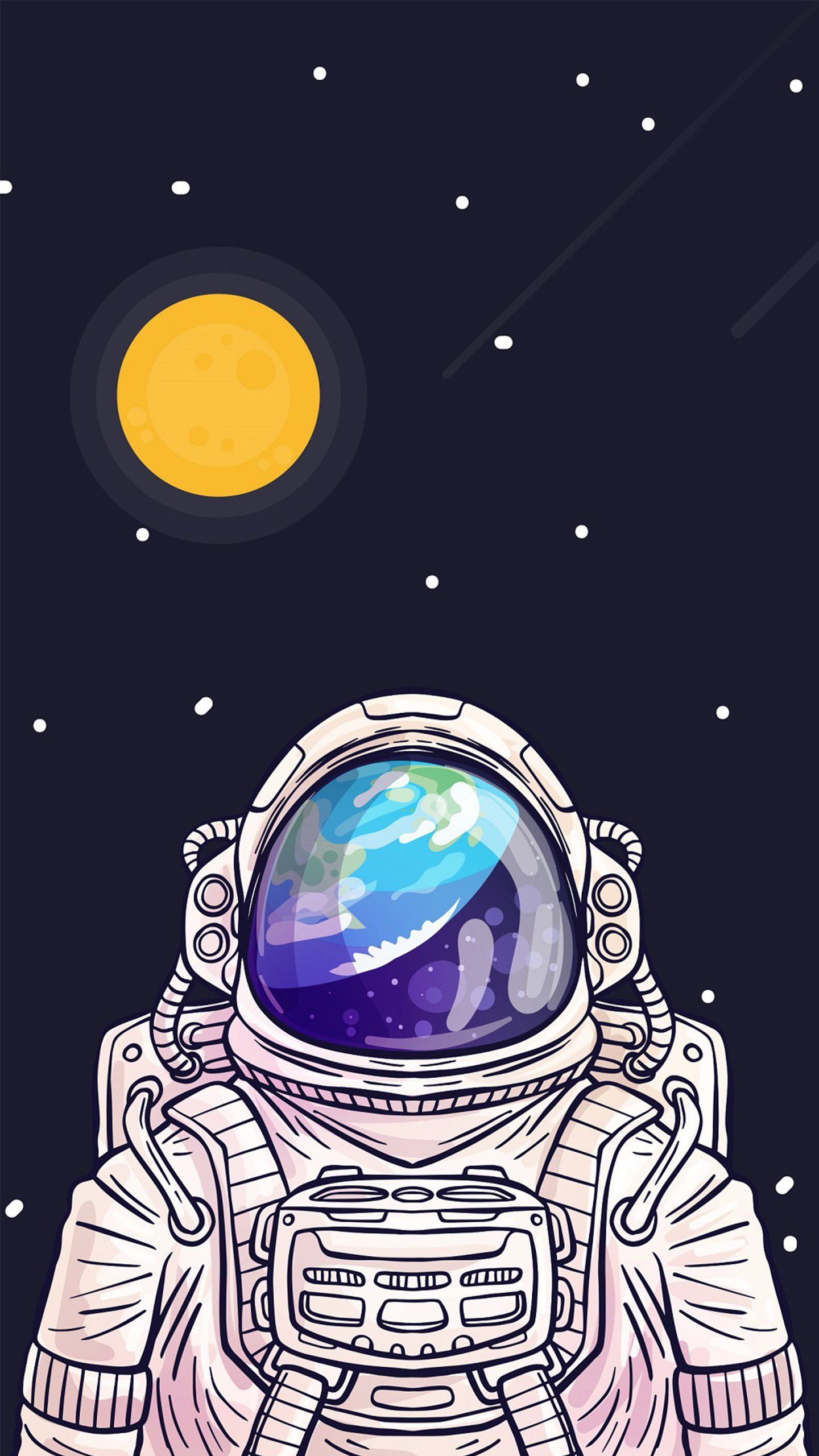 astronauts with ok symbol - HD1440×2560