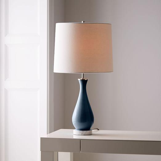 West elm rejuvenation colored glass table lamp medium