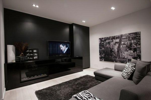 Heimkino Wohnzimmer Einrichtung-Wohnwand Minimal interior - heimkino wohnzimmer ideen