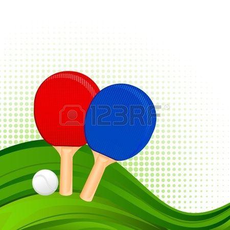 Racchette ping-pong e palla Archivio Fotografico