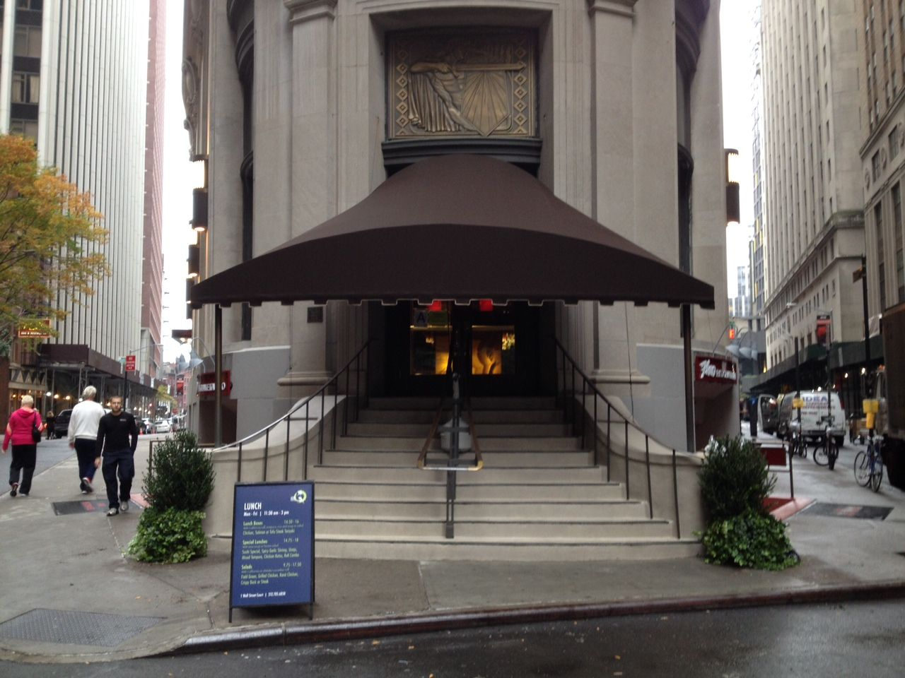 Hudson Awning Sign Designed And Fabricated A Canopy On 1 Wall Street NYC For