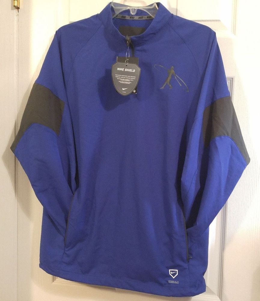 NEW Nike Swingman Hot Corner Batting Jacket Pullover Mens 638584 Griffey  Blue  Nike  Swingman 18386150a