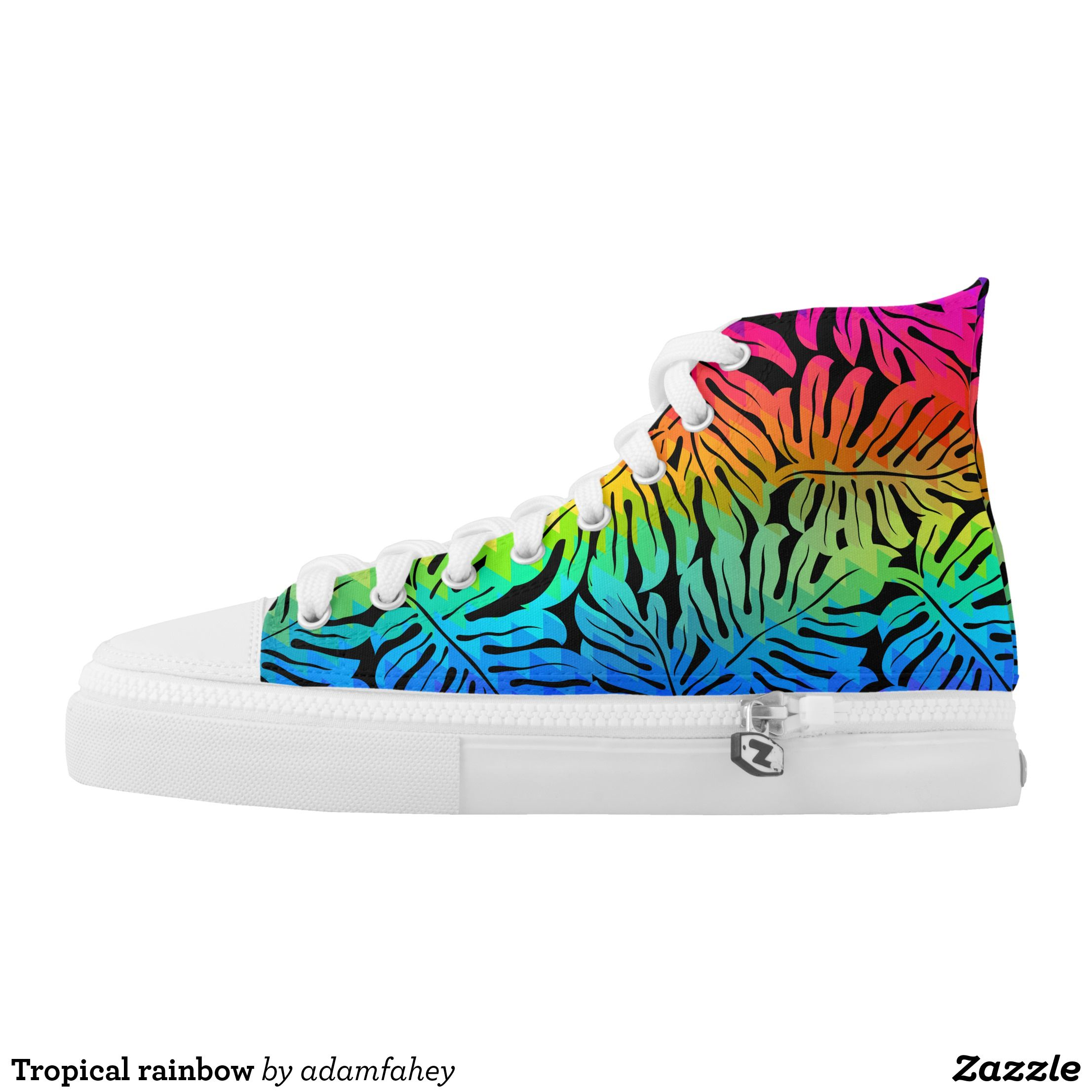 0880fa58751b Tropical rainbow High-Top sneakers - Canvas-Top Rubber-Sole Athletic Shoes  By Talented Fashion And Graphic Designers - #shoes #sneakers #footwear ...