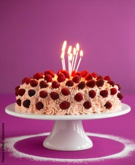 Vanille Himbeer Torte Rezept Himbeer Torte Himbeeren Torten