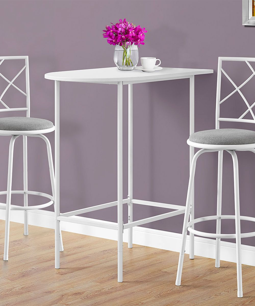 White Metal Bar Table