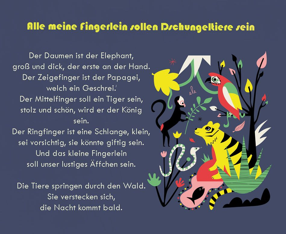 Fingerspiel Tiere Gedicht Kindergarten Erzieher Erzieherin