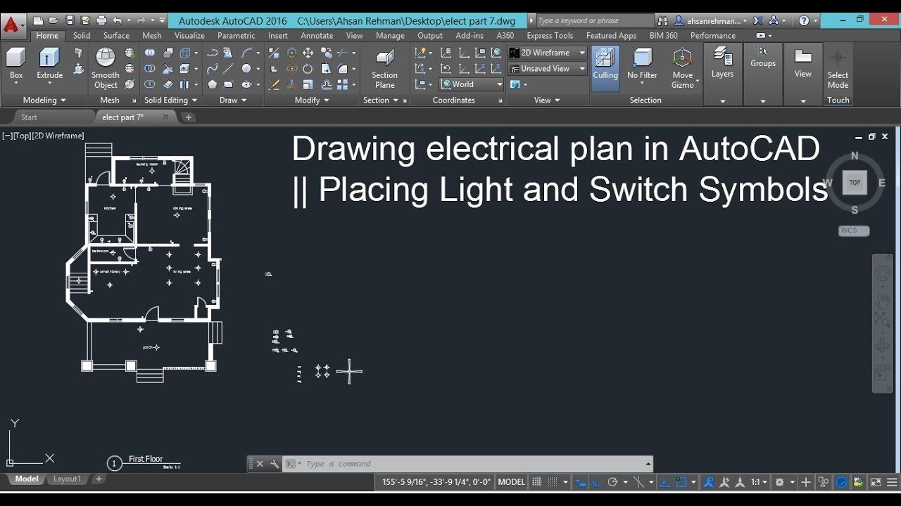 hight resolution of drawing electrical plans in autocad placing light and switch symbols