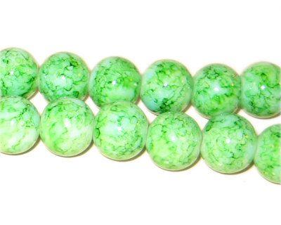 20 Glass Beads Green Tie Dye 10mm 3913 by OverstockBeadSupply, $1.75
