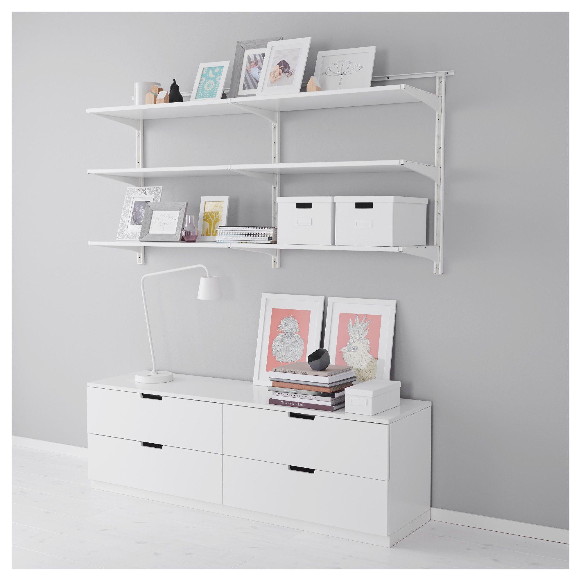 Ikea Algot White Wall Upright Shelves Wall Bookshelves Ikea