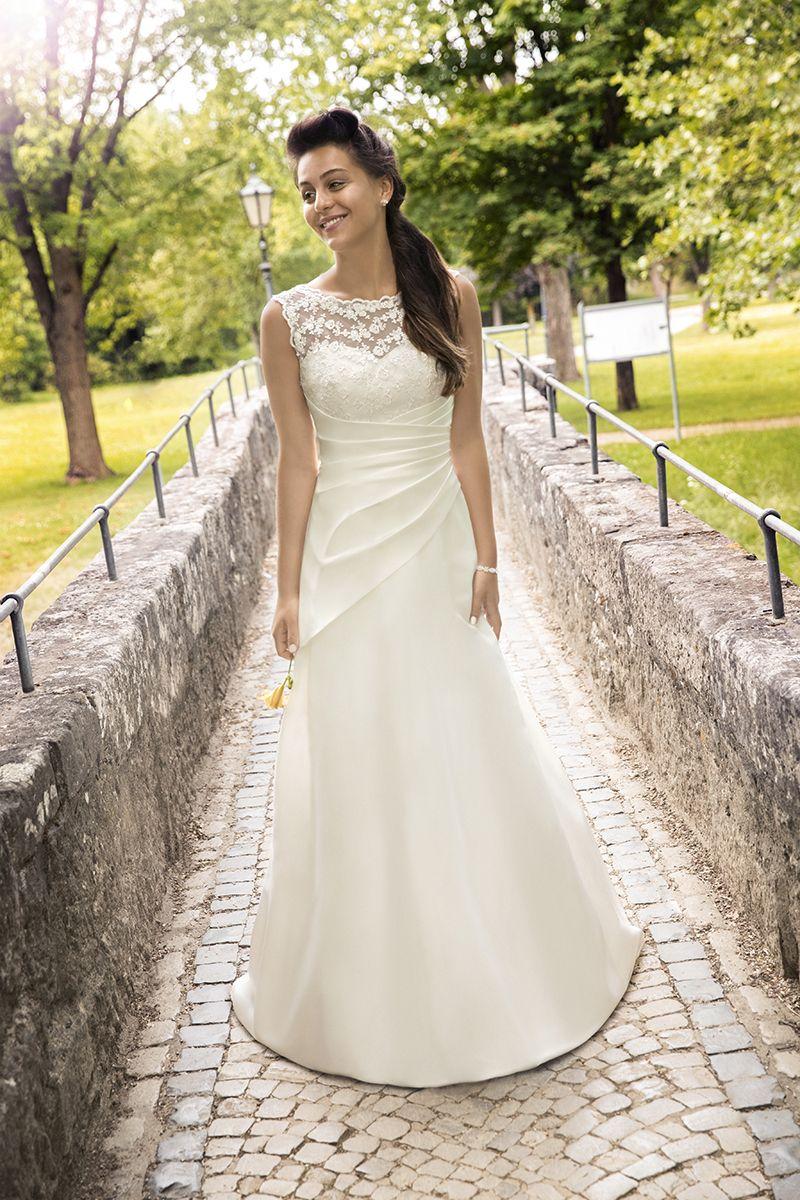 Brautkleid 12670 Ehlin, Satin mit Spitze   Kleid   Pinterest ...