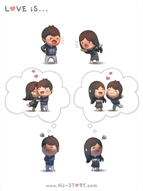 Image Via We Heart It Amor Animacion Caricatura Dibujo Frase