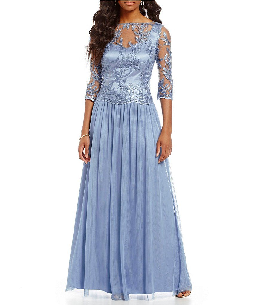 Brianna Embroidered Sequin Mesh Gown | dresses | Pinterest | Sequins ...
