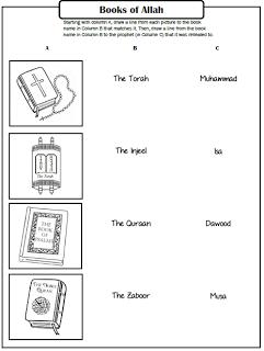 Pillars of Eemaan Worksheets: Books of Allah ~ TJ