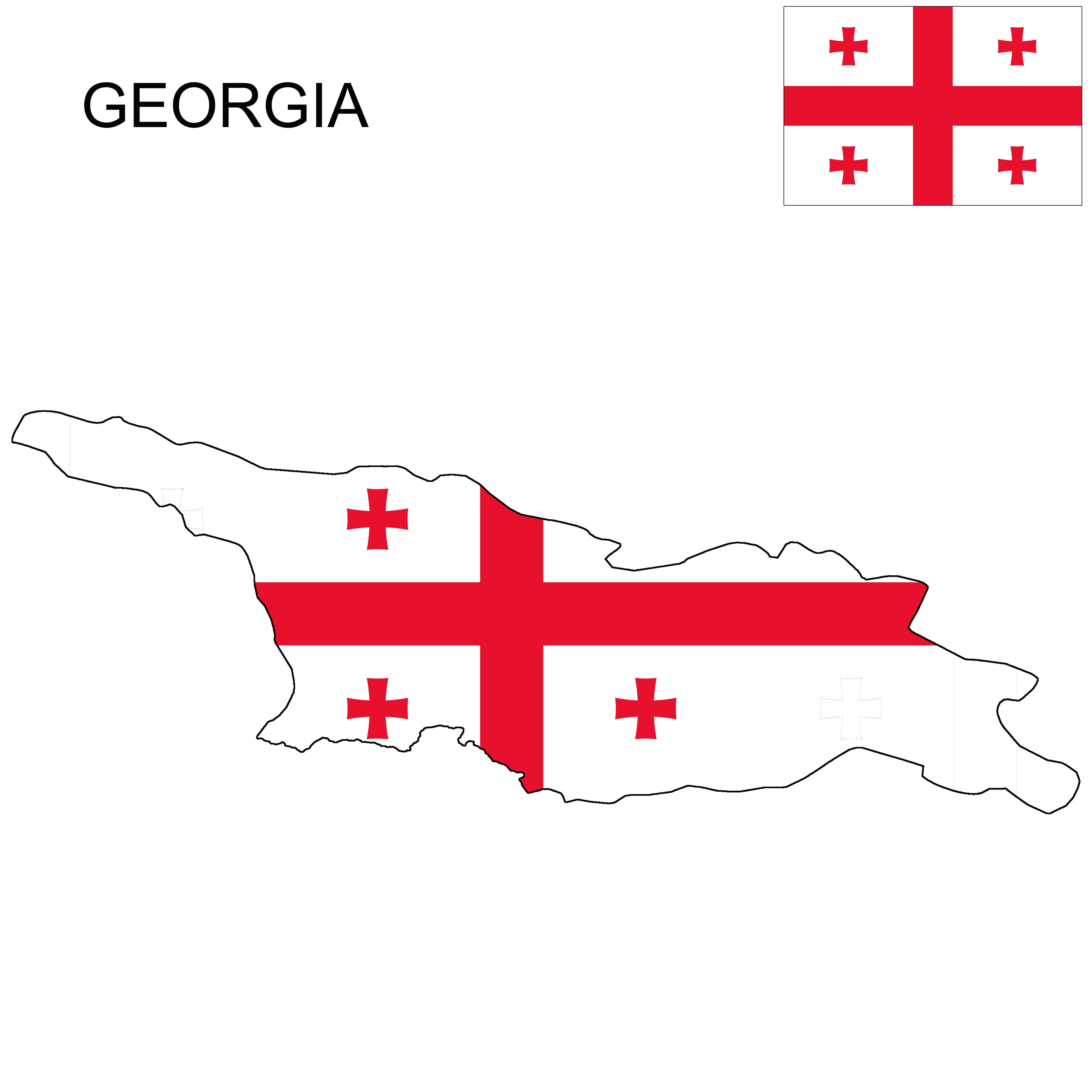 Georgia Flag Map