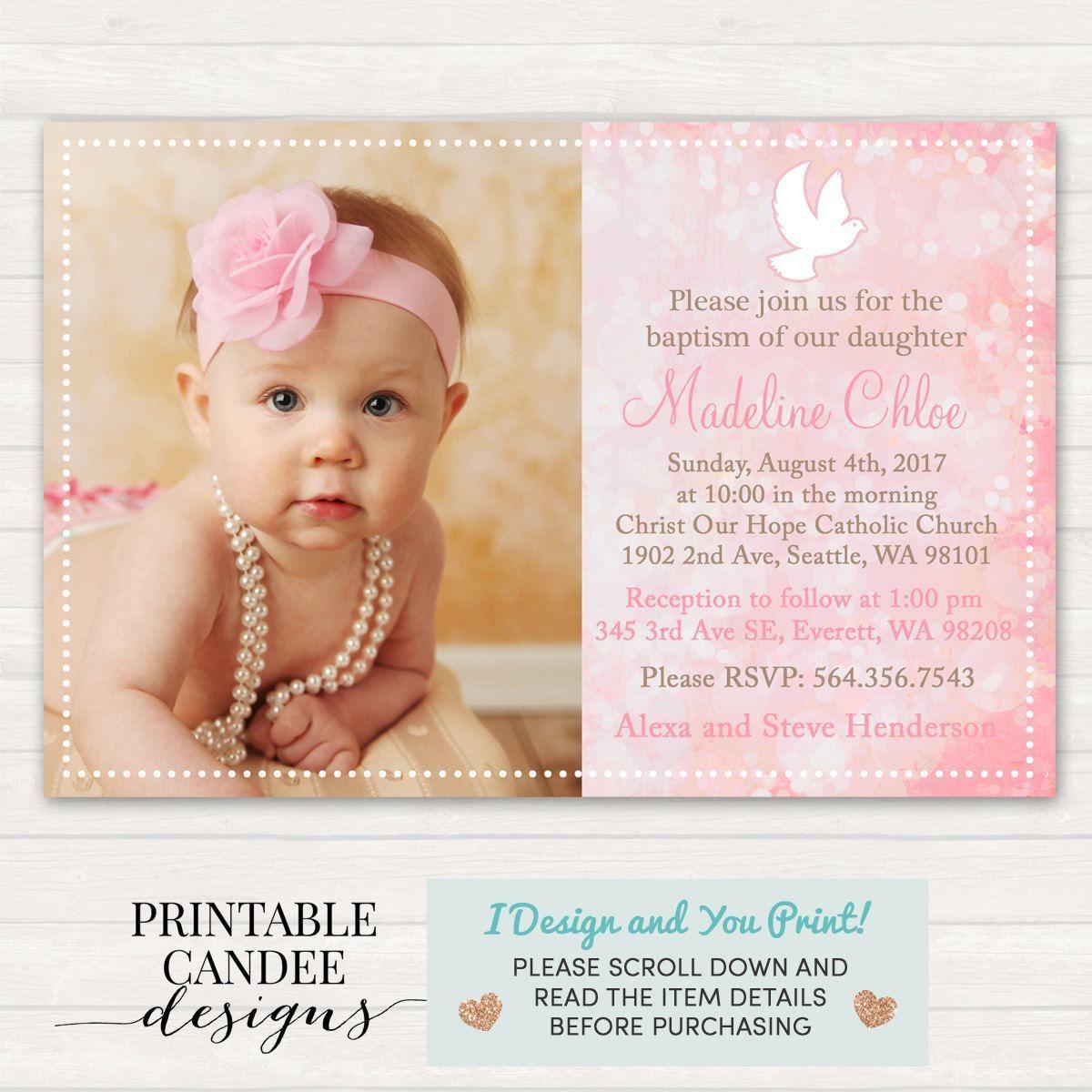 Best Hello Kitty Christening Invitation For Baby Girl Background