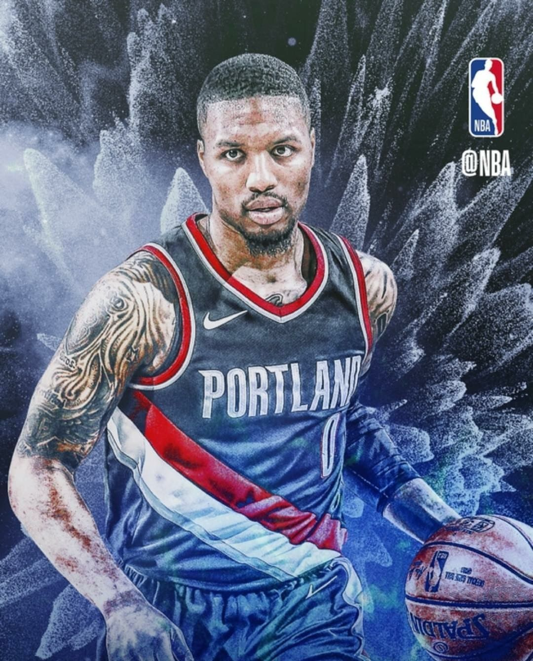 Damian Lillard Portland Trailblazers Blazers Basketball Nba Basketball Art Mvp Basketball