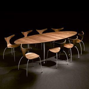 table manger ovale extensible en bois unique