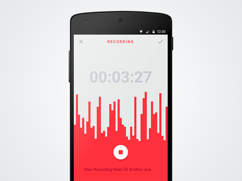 Voice recording app  Material version | UX Design Concepts
