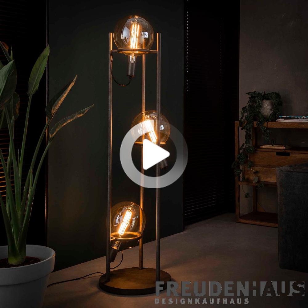 Photo of Floor lamp industry Saturn 3 bulbs with bulb ∅ 20 cm