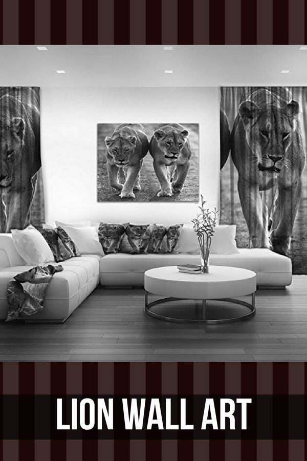 Powerful Captivating And Majestic Lion Wall Art Animal Wall Decor