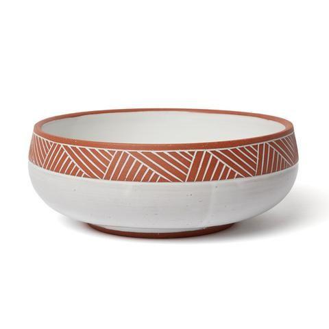 Terra Cotta Serving Bowl