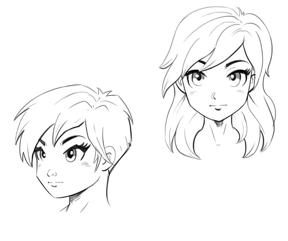 2 Ways To Draw An Anime Manga Face Front And 3 4 Views Improveyourdrawings Com In 2020 Drawings Character Drawing Anime