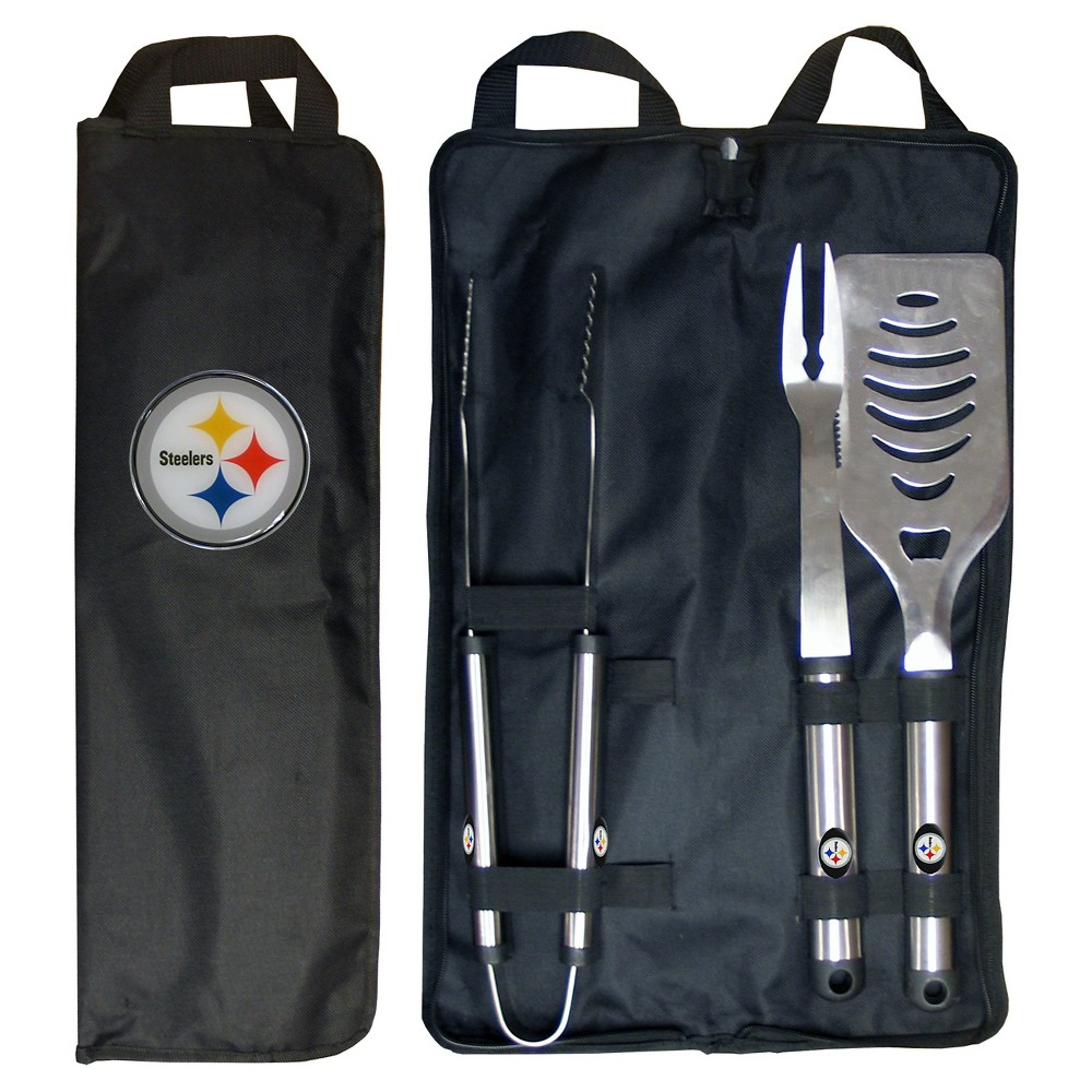 Siskiyou NFL Team 3-Piece Bbq Set with Canvas Case -