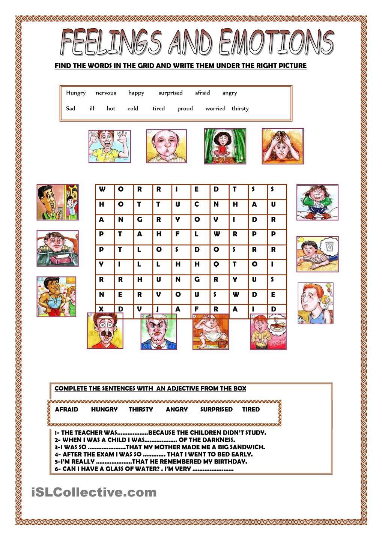 Feelings And Emotions Material1 Pinterest Feelings Worksheets