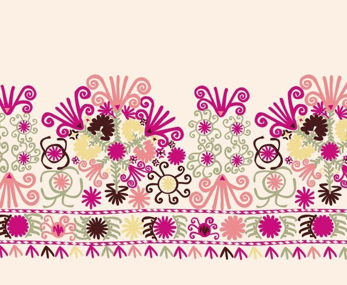 Turkmen horse blanket style embroidery