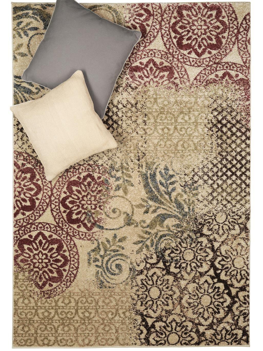 eine interessante kombination verschiedener floral inspirierter motive bietet dieses h bsche. Black Bedroom Furniture Sets. Home Design Ideas