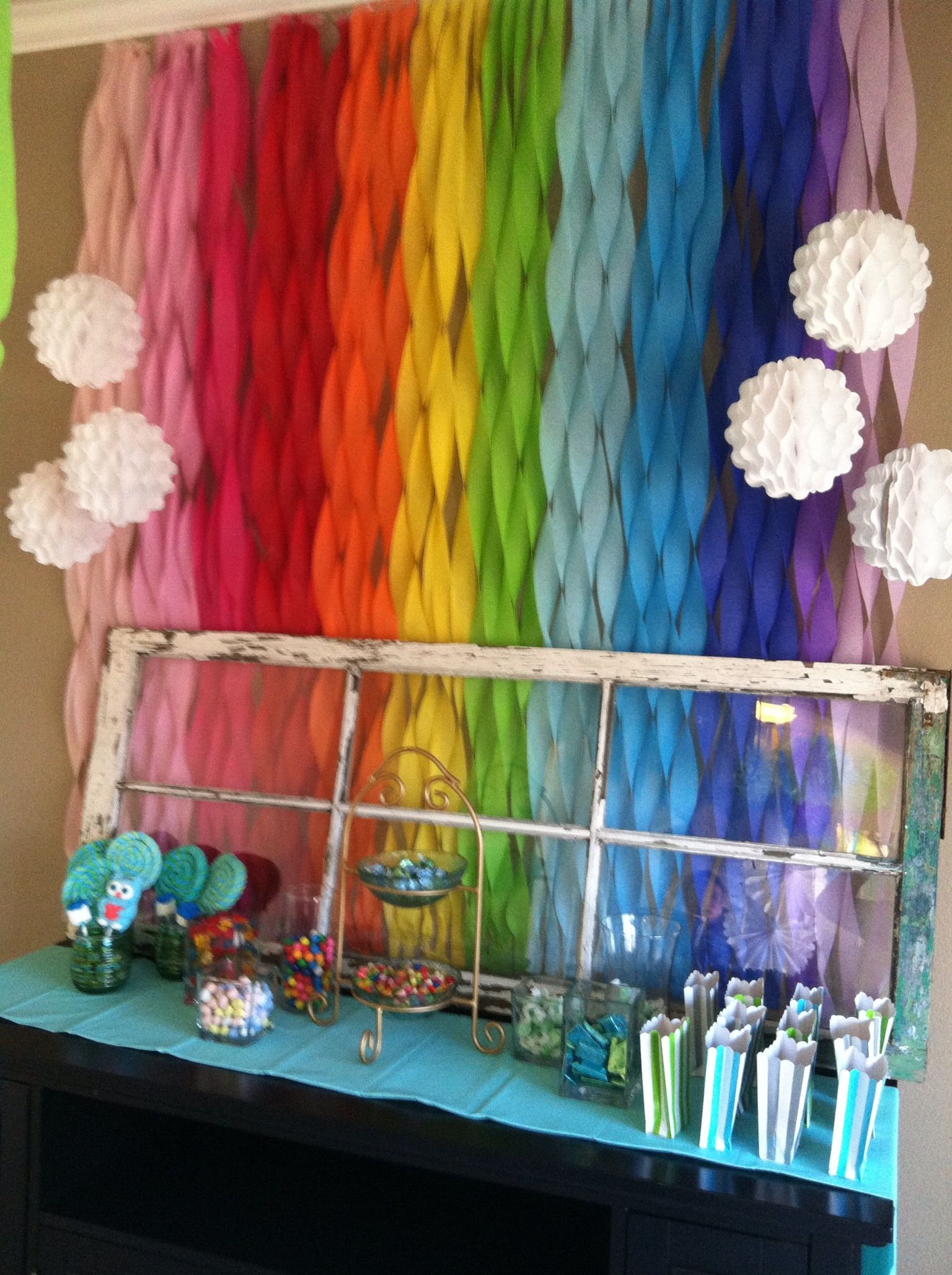 Baby shower rainbow - wow! too much? this was the original ...