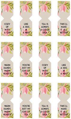 floral free printable tea bag tags pinterest free printable