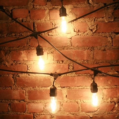 Heavy duty 10 socket vintage light strand wood fences lights 21 foot heavy duty vintage connectable outdoor weather resistant string light strand bulbs not included mozeypictures Choice Image