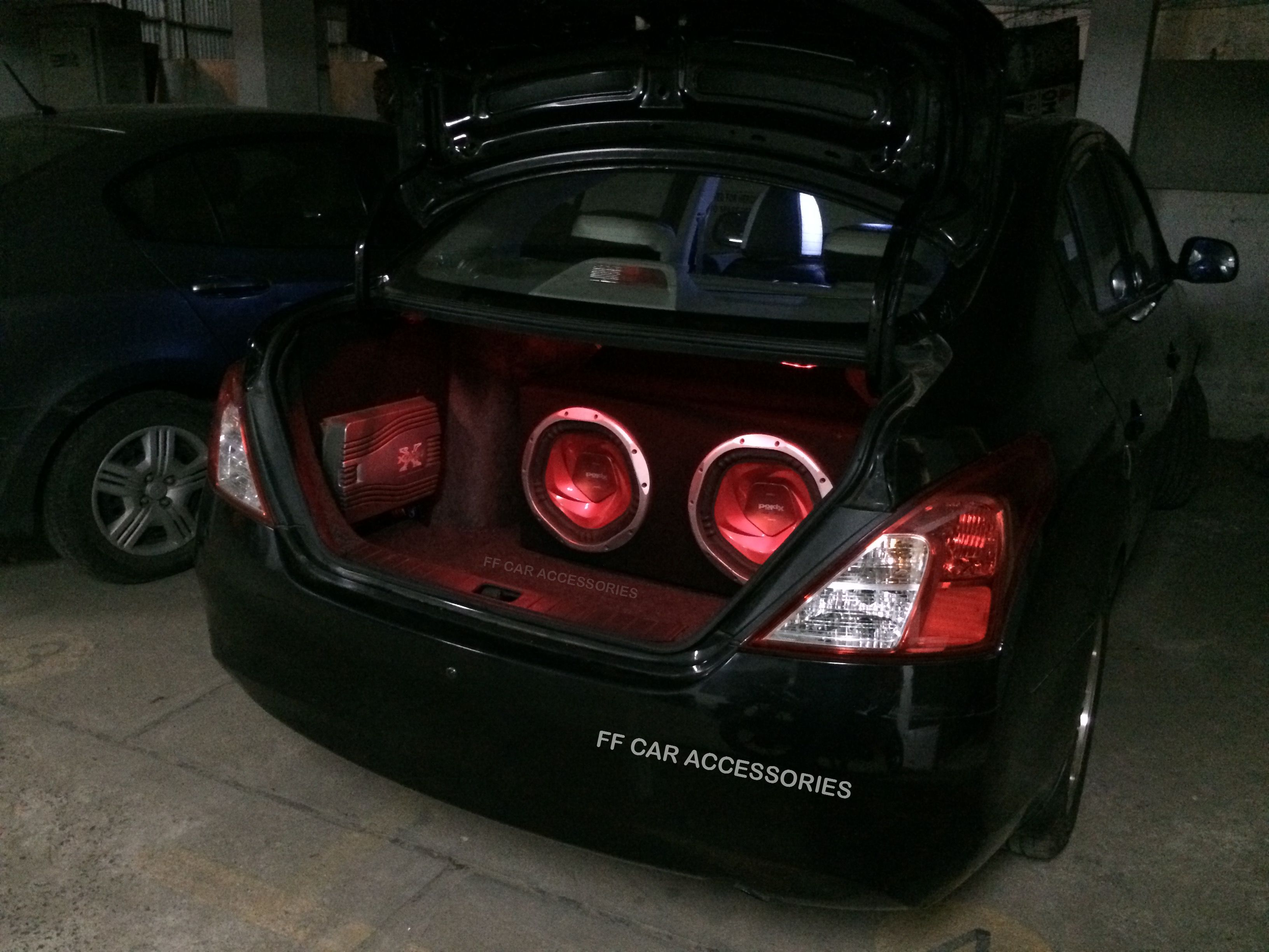 ICE set up for Nissan Sunny came out very well. work done by Team FF ...