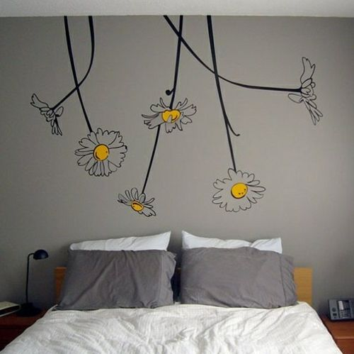Wandmuster Ideen Wanddekoration Geometrisch Formen Farben
