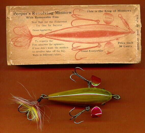 Antique fishing lure antique fishing lures pinterest for Antique fishing lures prices