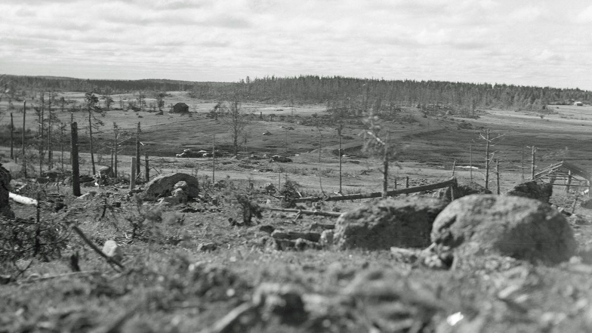 Ihantalan taistelumaastoa heinäkuussa 1944