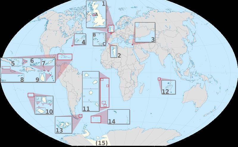 Map Of Uk Overseas Territories.British Overseas Territories Wikipedia The Free Encyclopedia