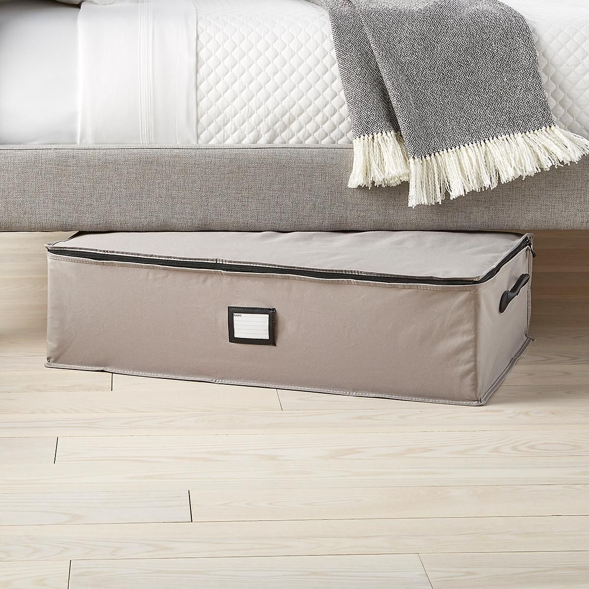 Foldable Lidded Storage Box Compartment Dustproof Thicken Cotton Linen Covered