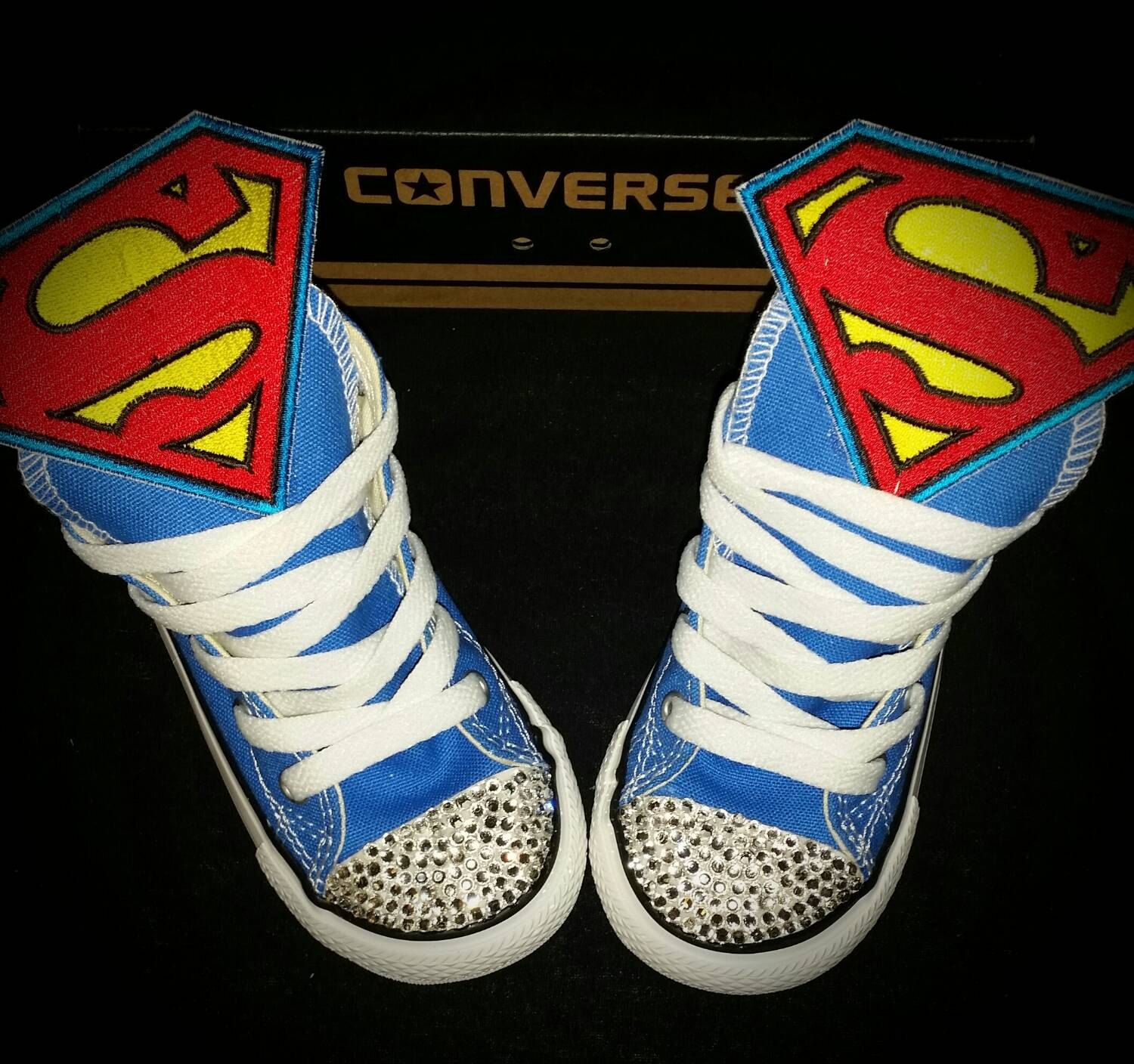 a5e19fe576a5 Boys Custom Converse Sneakers- Mickey Mouse- Superman- Batman- The Avengers-  Spongebob- Minions-Jake- Lightning McQueen- The Hulk- Emoji s by ...