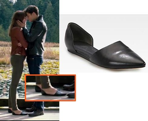 fifty shades anastasia ana black flats shoes dakota johnson