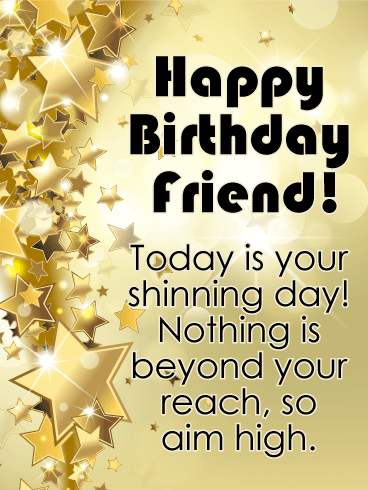 Happy Birthday Card For Friends The Super Stars Of Our Lives Are Golden People World Who Put Up With Gripes Bad Jokes And Horrible Tastes
