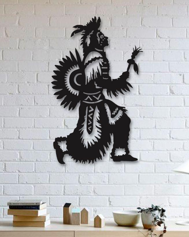 Kızılderili Metal Plaka - Amerindian Indian Pinterest Metals