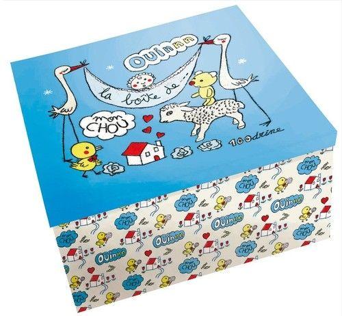 Boîte de mon chou 100drine | Cadeau / Deco naissance garçon ...