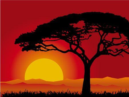 Resultado De Imagen Para Paisajes De Atardeceres Paisajes De Africa Pinturas Africanas Paisaje Para Pintar