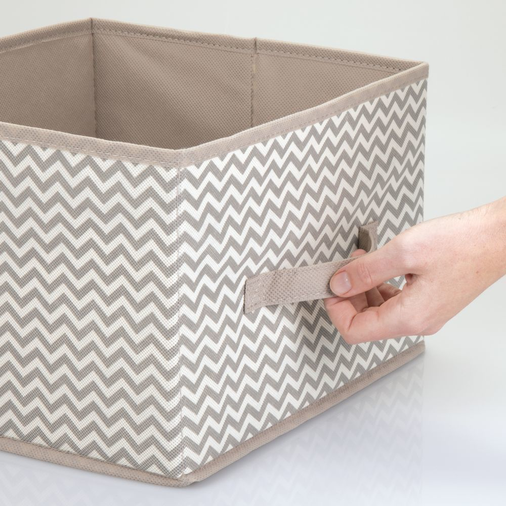 Collapsible Fabric Cube Storage Bin For Closet In Cream Espresso Brown 11 X 10 Bin Brown Clos In 2020 Cube Storage Bins Cube Storage Storage Closet Organization