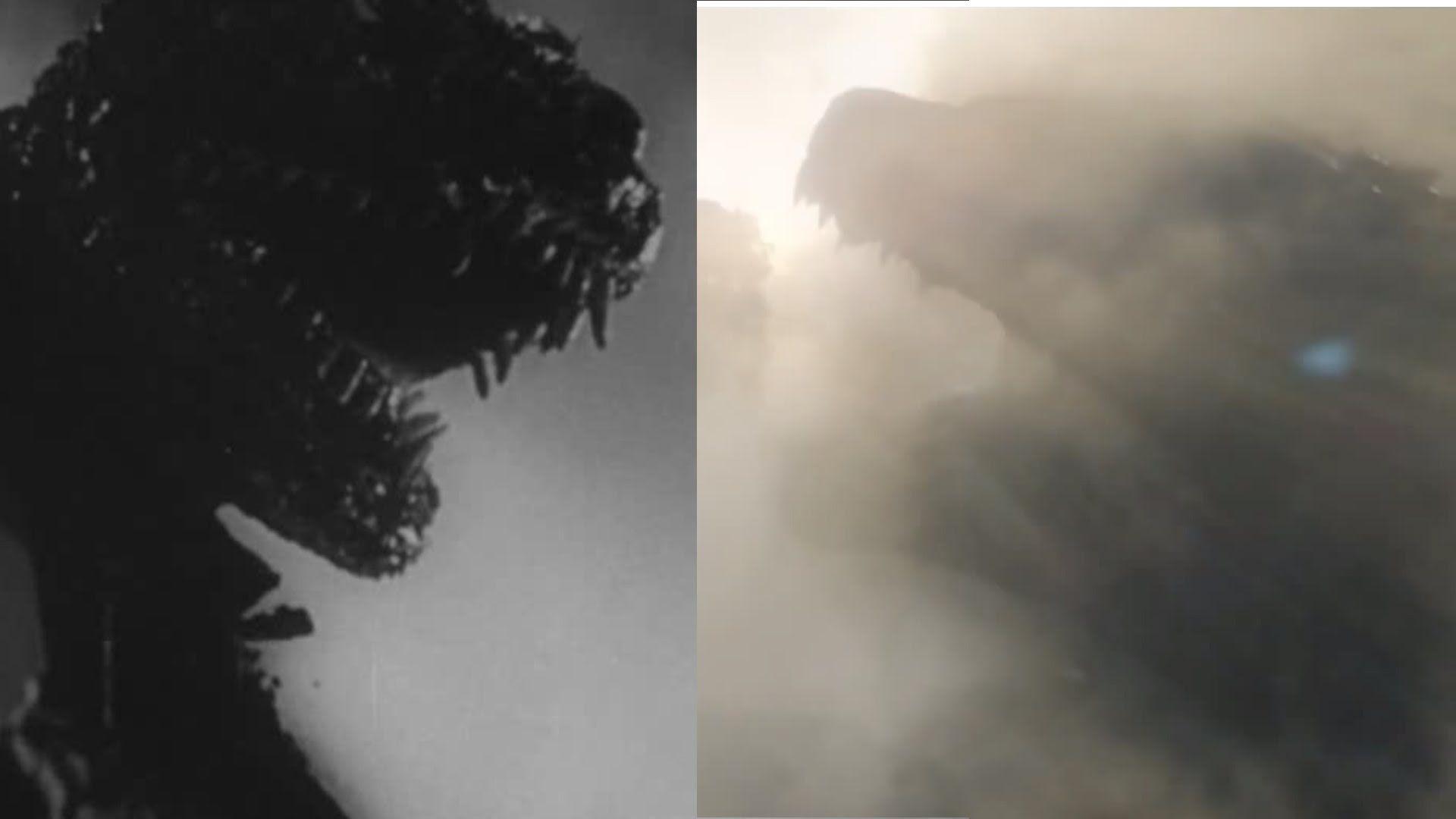 Godzilla 2014 trailer vs 1954 gojira footage