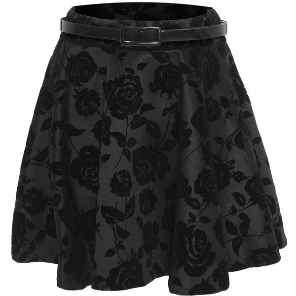 Mini Jupe Femme Taille Court Haute Velours Imprimé Floral Patineuse 8... ❤ liked on Polyvore featuring skirts, mini skirts, bottoms, faldas, flower print skirt, velour skirt, floral mini skirt, floral printed skirt and floral skirt
