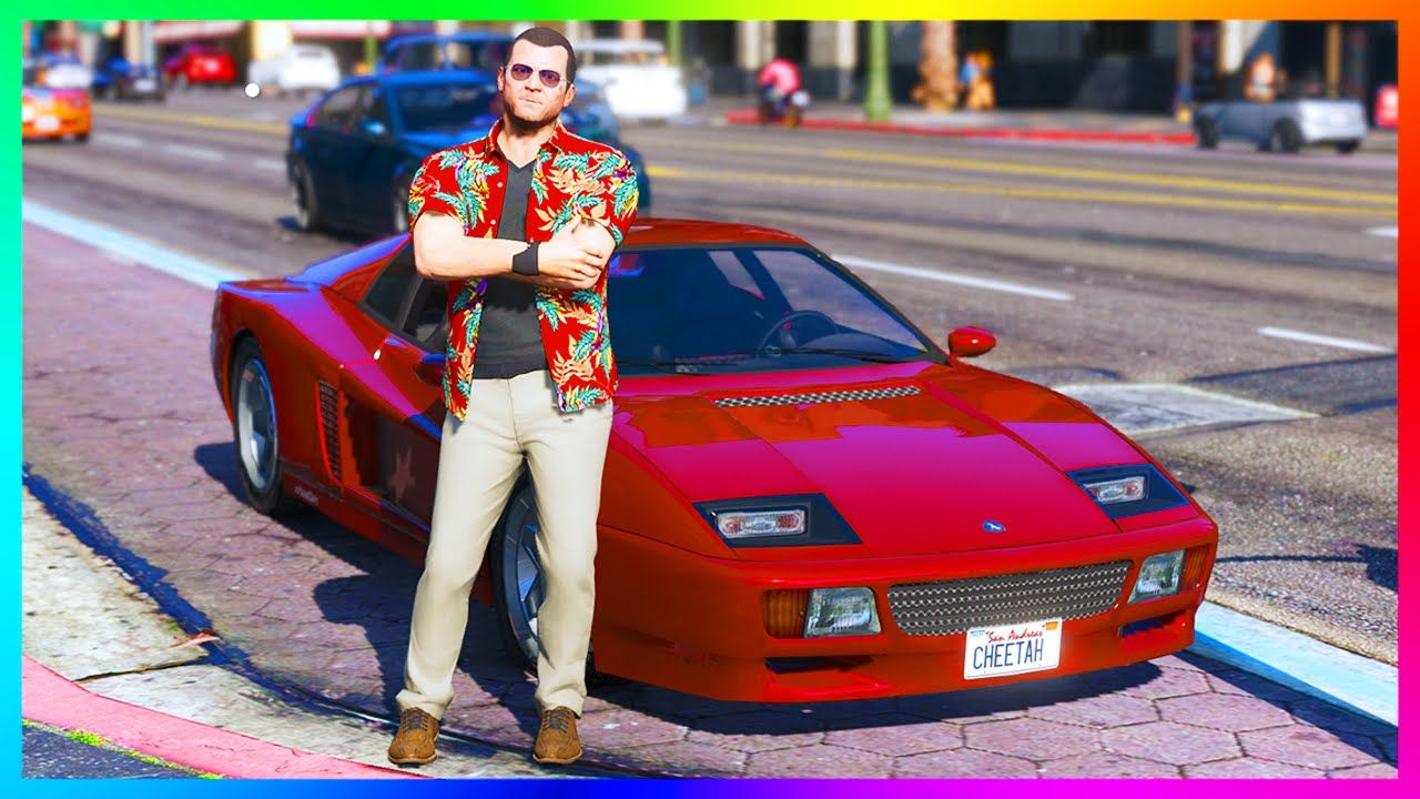 Amazing Gta 5 Vice City Themed Dlc Idea Concept Featuring Super Car Classics 80s Clothing More Super Cars 80s Outfit Gta 5